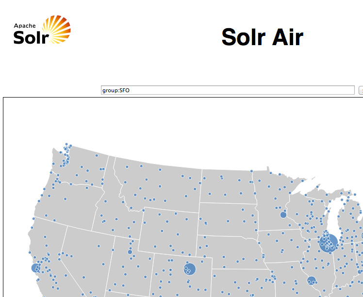 Screen capture of an example Solr AIR screen